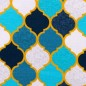 Mobile Preview: Jersey Moroccan Tiles türkis-petrol
