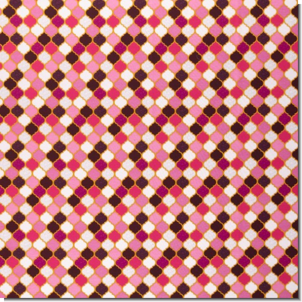 Jersey Moroccan Tiles pink by lycklig design