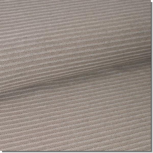 Jacquard-Jersey Fischgrät taupe