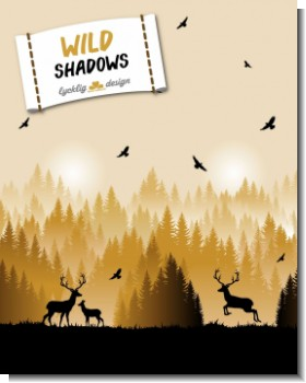 Wild Shadows Hirsch by Lycklig Design